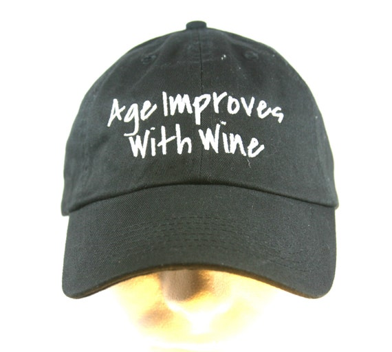 Age Improves With Wine - Polo Style Ball Cap (available in different colors)