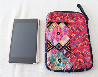 Huipil Tablet Pouches/Multicolor Cotton Table Case/Reader Pouches/Guatemalan Tablet Pouches/Huipil Readers Cases/IPad sleeves