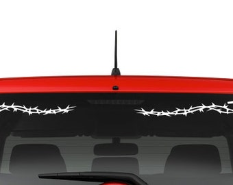 Cross and Thorns (R15) Vinyl Decal Sticker Car/Truck Laptop/Netbook Window
