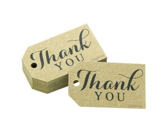 Thank You Tags, Thank You Favor Tags, Wedding Favor Tags, Thank You Gift Tags, Product Tags, Thank You Paper Tags, Rustic Wedding Tags T088