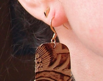 Genuine Leather Earrings~Very Lightweight~Many styles available~See my other listings for MORE