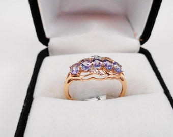 Tanzanite in a 14kt Gold Ring with Diamond Accents