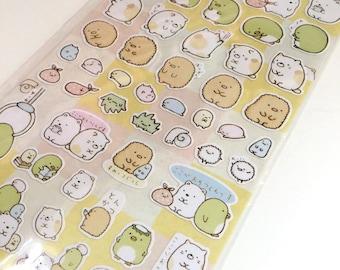 Deco Stickers: Sumikkogurashi San-X Animal Bear, cute cat. For Filofax KIKKI.K Erin Condren Life Planner, Daily Diary Journal decorations.