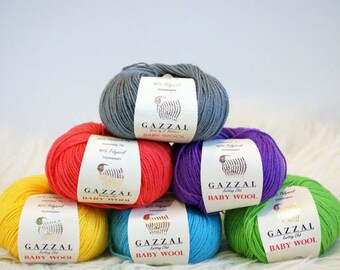 Baby yarn Baby wool GAZZAL, yarn lot