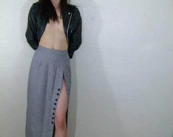 1950s Secretary Skirt W// High Slit