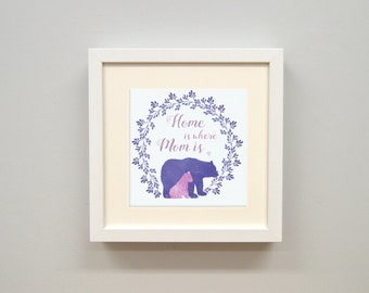 Home is where Mom is - square print