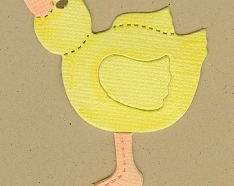 Finished Zoo Baby Duck Die Cuts for Scrapbooking pages