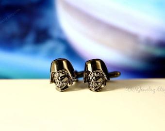 Star Wars Cufflinks Mens 3D Darth Vader Movie Cuff links Novelty Fathers Day Anniversary Wedding Groomsman Gifts for him