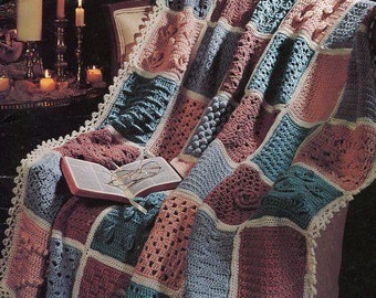 Free Us Ship Leisure Arts Leaflet 2770 Crochet Scripture Afghan 1995 Out of Print