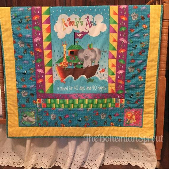 Baby Quilt Noah 39 S Ark Baby Blanket Toddler Blanket