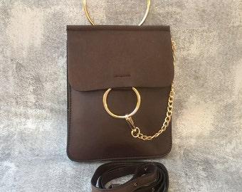 brown Clutch, Evening Purse, Vegan Wristlet, brown Handbag, Envelope Clutch, Gift For Her