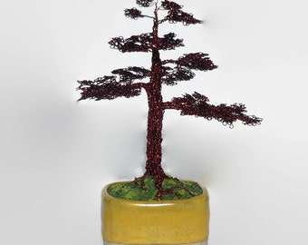 Bonsai Formal Upright Wire Tree Sculpture