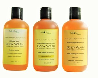 Body Wash, Organic All Natural Body Wash For Normal to Dry Sensitive Skin, Eczema Psoriasis Skin, Aromatherapy Shower Gel, Sulfates  Free