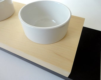 Ceramic bols for small feeder- Cats or small dogs bowls, Minimal modern design, animalove
