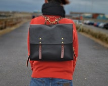 """13"""" laptop Leather Backpack, Handmade Italian Leather Satchel, Leather Messenger, Leather Bag, Leather Rucksack, available for men and women"""