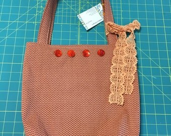 Tote bag in paprika color
