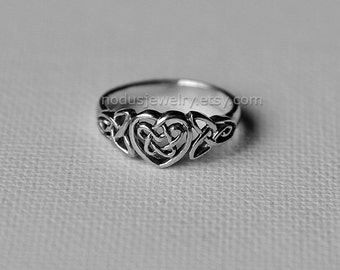 Celtic heart ring, sterling silver, celtic knot ring, knot ring, infinity ring, infinity celtic heart ring, infinity knot, celtic jewelry