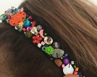 Handmade Headband with beads code BA003