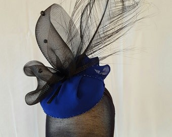 Black and Colbolt Blue Headpeice