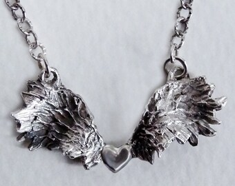 Angel Wing Necklace,  One-of-a-kind Gift, Angel Wing Choker, Handmade, Silver Necklace, Gift for Her, Remembrance Necklace, Guardian Angel