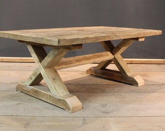 Coffee Table, Crofters Coffee / Reception Table, Handmade Chunky (The Cinderford)