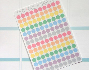 Pastel Dots Planner Stickers