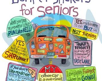 Bumper Stickers for Seniors