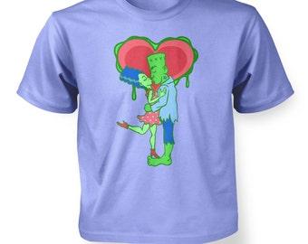Frankenstein Kiss kids t-shirt