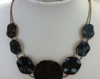 Vintage Pilgrim Enamel Choker Necklace, Danish Design, Pilgrim Necklace