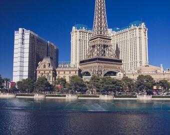 Las Vegas, Las Vegas Skyline, Las Vegas Strip, Las Vegas Print, Water, Las Vegas decor,  Las Vegas Wall Art, Viva Las Vegas