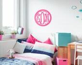 22 in Scallop Wood Monogram, great for Front Door, Mantel, Wall Art, Large Wood monogram, Wedding Decor, Door Hanging