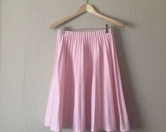 Pale Pink Pleated Skirt