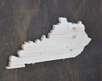 Kentucky State Wood Cutout