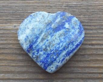 NATURAL LAPIS LAZULI Gemstone Puffy Heart 30-35mm