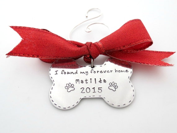 Silver Engraved Rescue Dog First Christmas Ornament