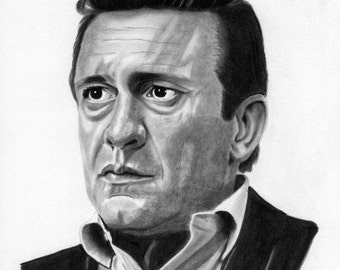 Johnny Cash Fine Art Print (8x10)