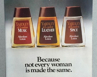 1981 Yardley of London Print Ad - Men's Aftershave Lotion