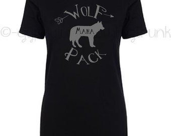 ON SALE Wolf Pack Shirt - Family Outfit - Mama Wolf Top - Wolf Top - Wolf Shirt - Matching Wolf Shirts - Wolf Family Outfits - Mommy & Me