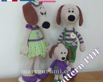 Crochet Pattern, pattern, tutorial, Amigurumi dog family