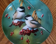 The Chickadee Plate by Kevin Daniel Fourth Issue in the Britannica Birds of Your Garden Collection  1986 Knowles Fine China