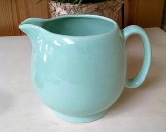 Vintage Light Green / Seafoam Green Ceramic Pitcher