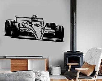 Wall Vinyl Decal Car Auto Racing Auto Body Shop Decor Kid's Room or Garage Man Cave Cool Decor (#1028di)