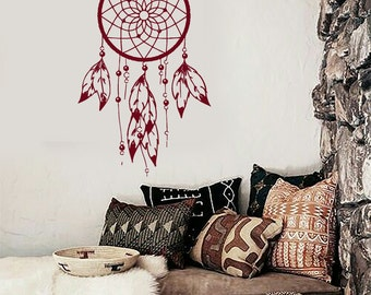 Wall Vinyl Decal Bedroom Decor Dream Catcher Quote Lakota Dreamer Modern Ethnic Home Art Decor (#1082dz)
