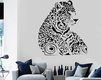 Wall Vinyl Decal Leopard Cheetah Tiger Hunter Jungle Mural Art 1464dz