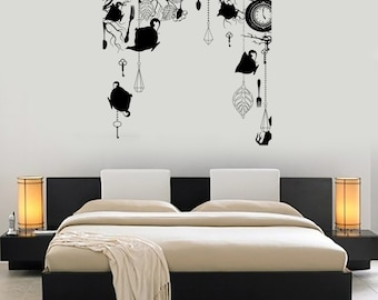 Wall Art Mural Romantic Bedroom Fantasy Amazing Clock Key Decor 1494dz