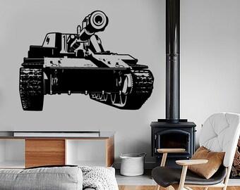 Wall Vinyl Tank Military War Army Cool Decal Mural Art 1619dz