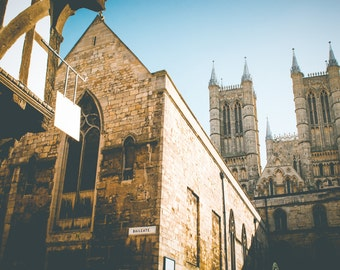 Cathedral Print - Lincoln Cathedral, Church Wall Art - Church Photography Print