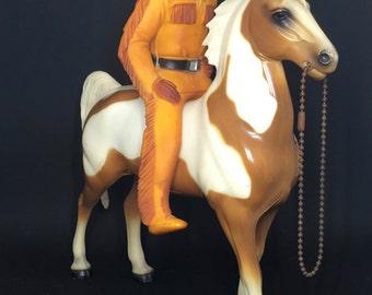 1954 Lone Ranger Indian Figure Tonto  & Heartland Plastics Horse