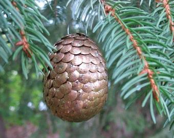 Dragon egg ornament - copper