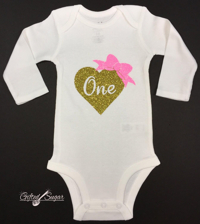 Birthday Onesie First Birthday Shirt Girls Onesie First
